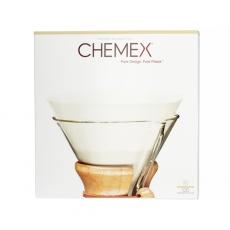 Apvalūs popieriniai filtrai kavinukui Chemex, 100vnt.