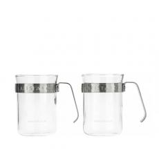 Dviejų stiklinių komplektas Barista & Co, sidabro