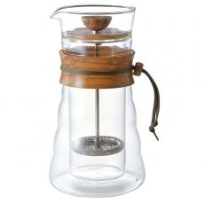 Dvigubo stiklo kavinukas Hario Cafe Press, 400ml