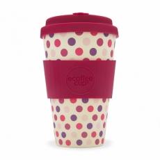 ECOFFEE Cup puodelis, Pink Polka 400ml
