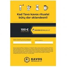 Elektroninis dovanų kuponas, €100