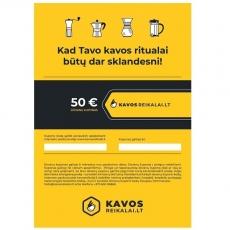 Elektroninis dovanų kuponas, €50