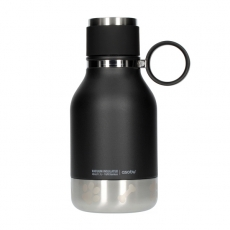Gertuvė Asobu Dog Bowl Bottle, Black