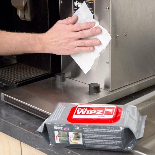 Kavos įrangos valymo servetėlės Urnex Wipz, 100vnt.