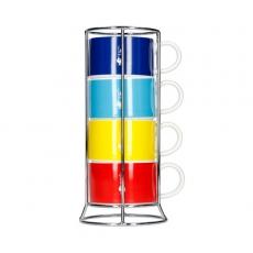 Kavos puodeliai Bialetti su stovu, 100ml