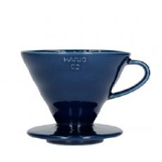 Keraminis kavinukas Hario V60-02, mėlynas