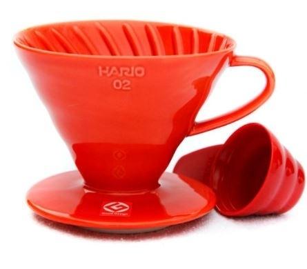 Keraminis kavinukas Hario V60-02, raudonas