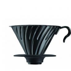Metalinis kavinukas Hario V60-02, juodas