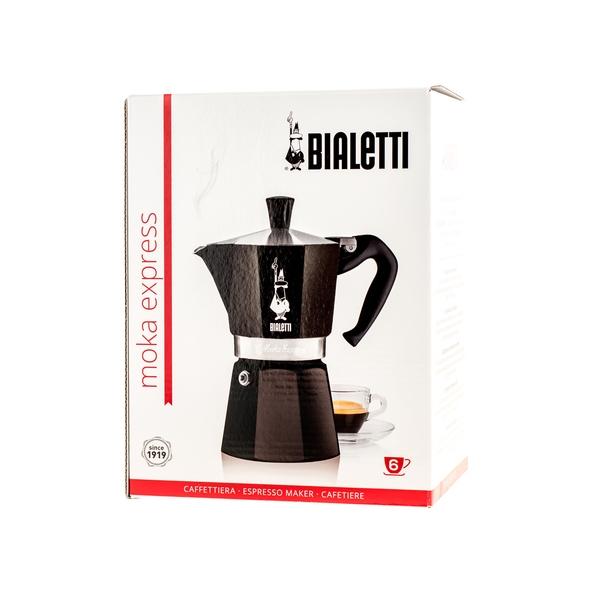 Moka kavinukas Bialetti Express juodas, 300ml 6p.