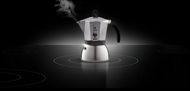Moka kavinukas Bialetti Induction juodas, 150ml 3p.