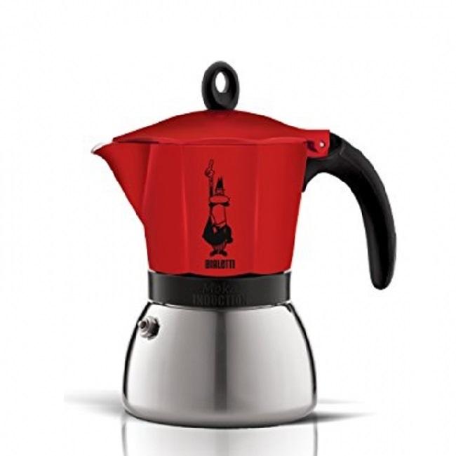 Moka kavinukas Bialetti Induction raudonas, 300ml 6p.