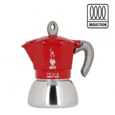 Moka kavinukas Bialetti Induction Red, 150ml 4p.