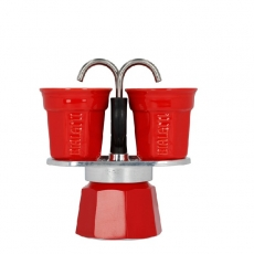 Moka kavinukas Bialetti Mini, Red 100ml 2p.