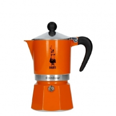 Moka kavinukas Bialetti Rainbow Orange, 150ml 3p.