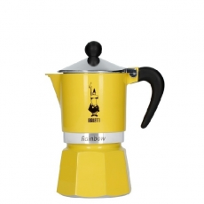Moka kavinukas Bialetti Rainbow Yellow, 150ml 3p.
