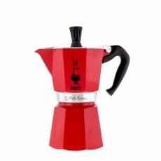 Moka kavinukas Bialetti, raudonas 300ml 6p.