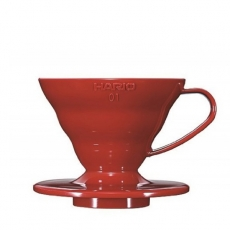 Plastikinis kavinukas Hario V60-01, raudonas