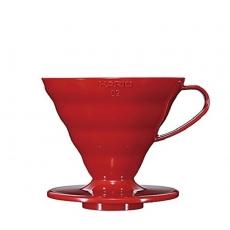 Plastikinis kavinukas Hario V60-02, raudonas