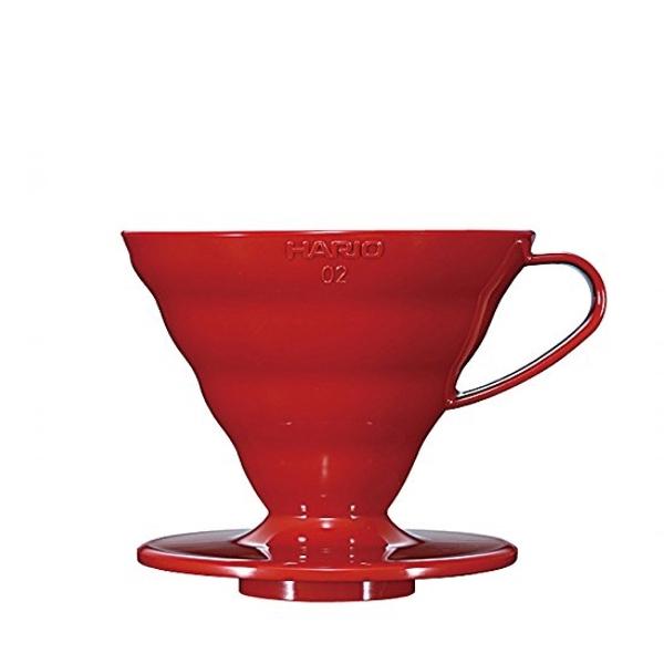 Plastikinis komplektas Hario V60-02,raudonas 700ml