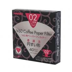 Popieriniai filtrai Hario V60-02 kavinukui, 40vnt.
