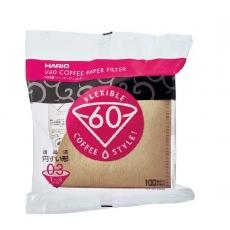 Popieriniai filtrai Hario V60-03, rudi 100vnt.
