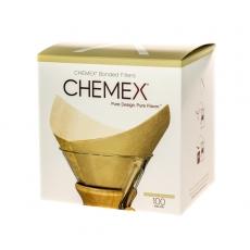 Popieriniai filtrai kavinukui Chemex Square, rudi 100vnt.