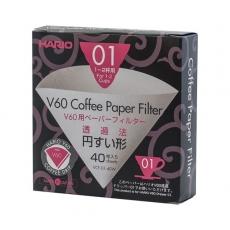 Popieriniai filtrai kavinukui Hario V60-01, 40vnt.