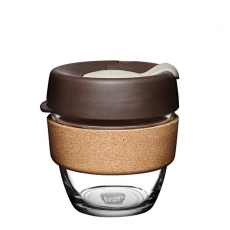Puodelis KeepCup Cork Almond stiklinis, 227ml
