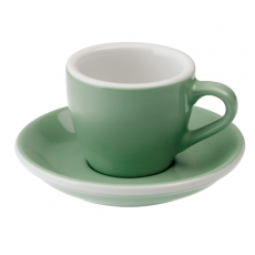 Puodelis su lėkštute Loveramics Mint Espresso, 80ml