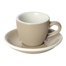 Puodelis su lėkštute Loveramics Taupe Espresso, 80 ml