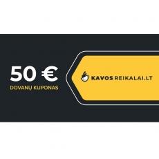 Spausdintas dovanų kuponas, €50