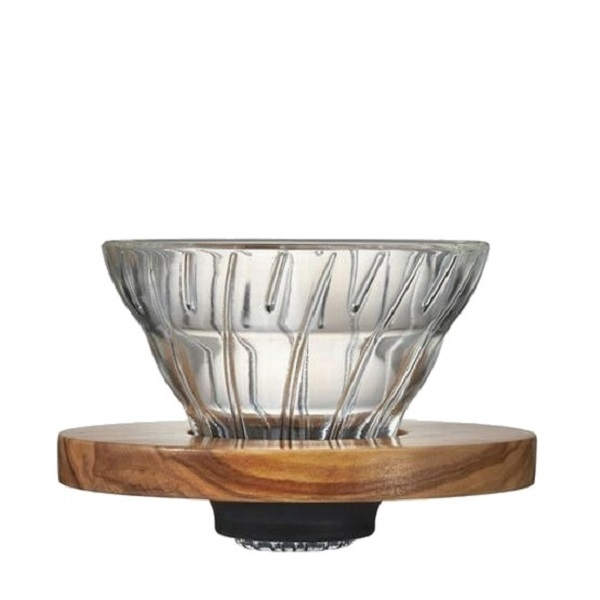Stiklinis kavinukas Hario V60-01, Olive Wood