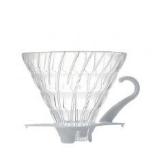 Stiklinis kavinukas Hario V60-02, baltas