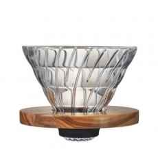 Stiklinis kavinukas Hario V60-02, Olive Wood